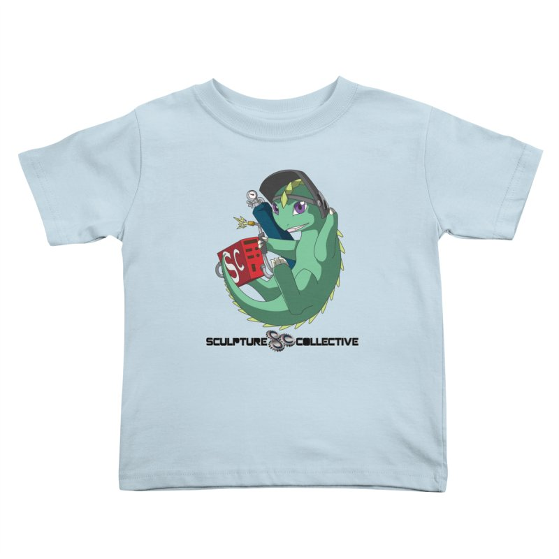 Weldzilla by Michelle Fluekiger Kids Toddler T-Shirt by ChupaCabrales's Shop