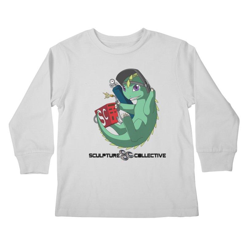 Weldzilla by Michelle Fluekiger Kids Longsleeve T-Shirt by ChupaCabrales's Shop
