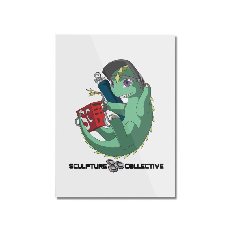 Weldzilla by Michelle Fluekiger Home Mounted Acrylic Print by ChupaCabrales's Shop