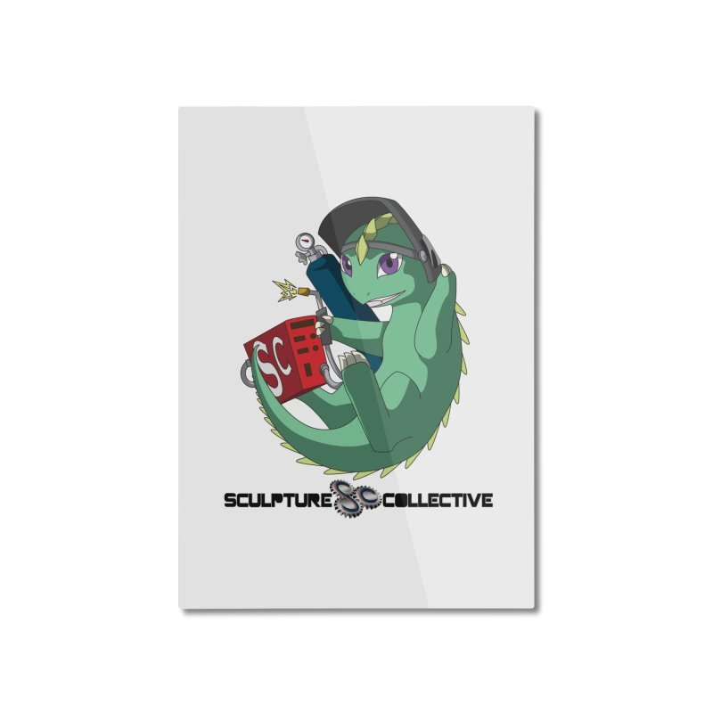 Weldzilla by Michelle Fluekiger Home Mounted Aluminum Print by ChupaCabrales's Shop