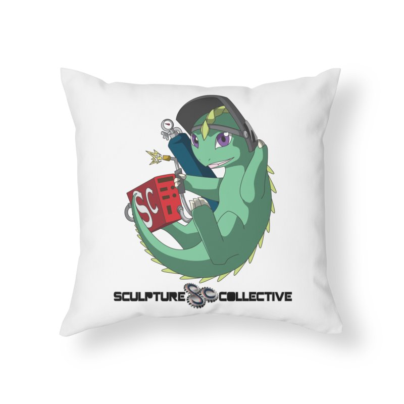 Weldzilla by Michelle Fluekiger Home Throw Pillow by ChupaCabrales's Shop