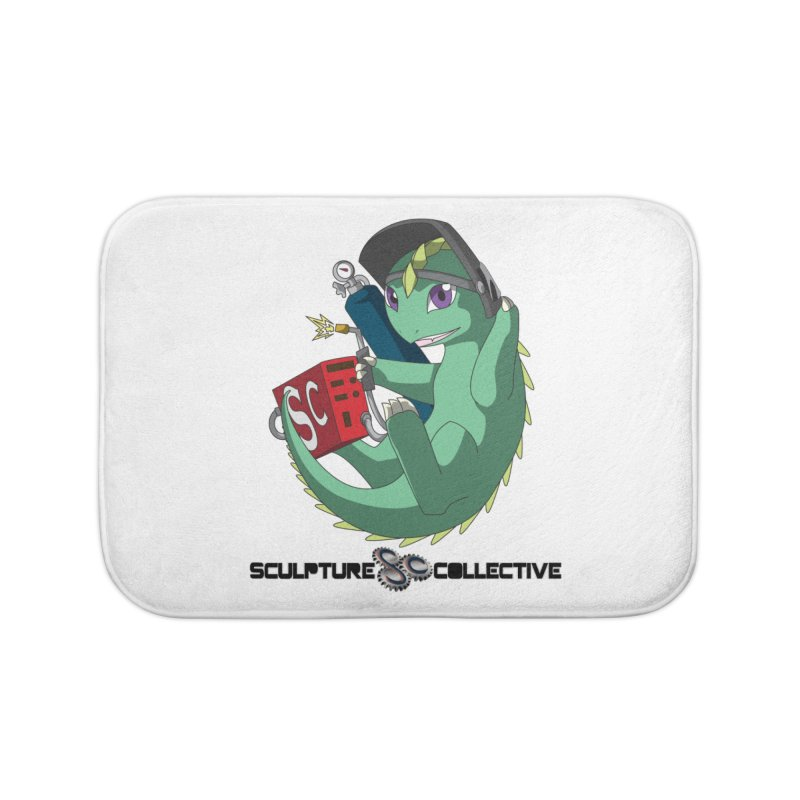 Weldzilla by Michelle Fluekiger Home Bath Mat by ChupaCabrales's Shop