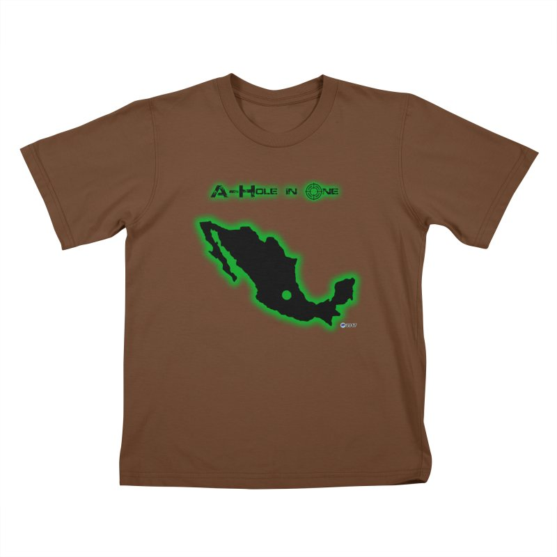 A-Hole in One by ChupaCabrales Kids T-Shirt by ChupaCabrales's Shop