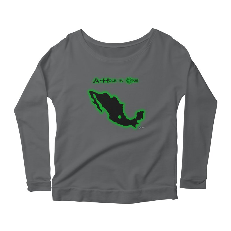 A-Hole in One by ChupaCabrales Women's Longsleeve Scoopneck  by ChupaCabrales's Shop