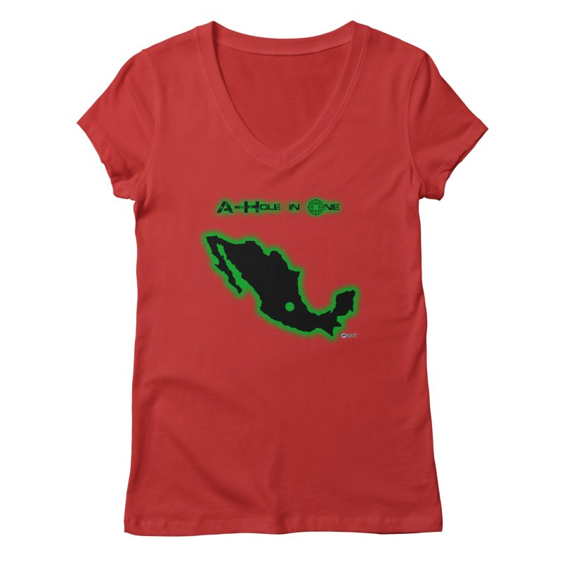 A-Hole in One by ChupaCabrales Women's V-Neck by ChupaCabrales's Shop
