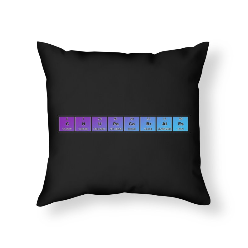 ChupaCabrales Elements by ChupaCabrales Home Throw Pillow by ChupaCabrales's Shop