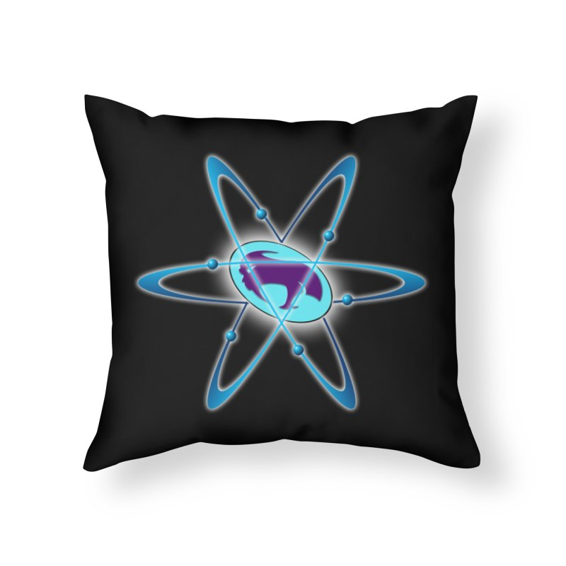 The Atom by ChupaCabrales Home Throw Pillow by ChupaCabrales's Shop
