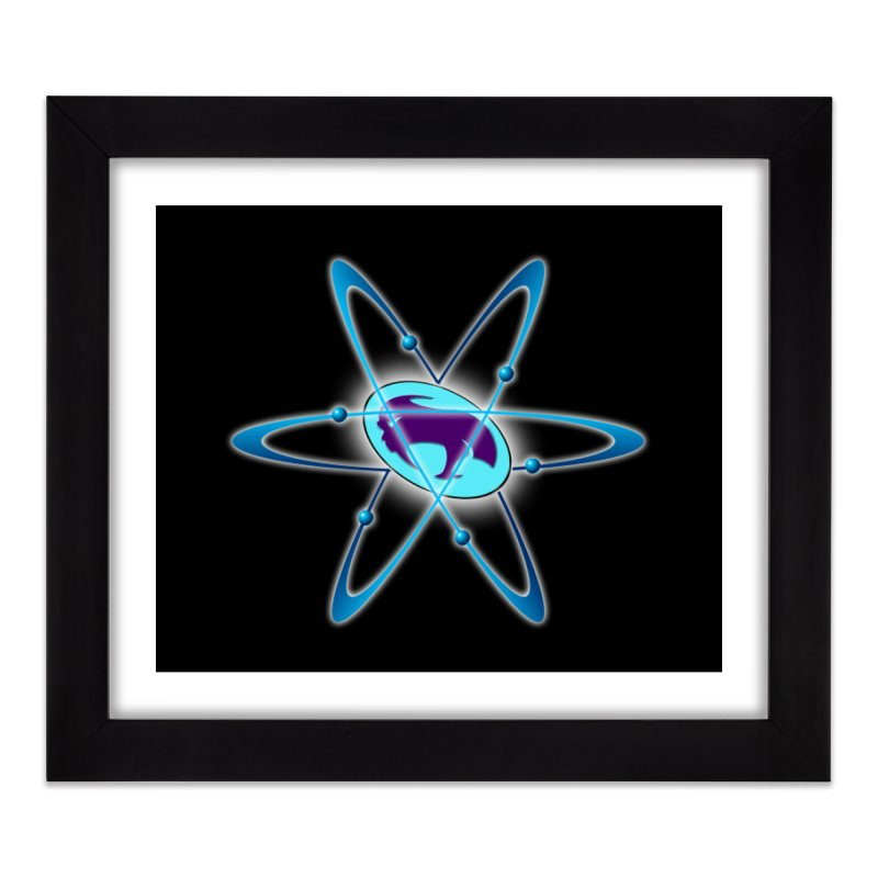 The Atom by ChupaCabrales Home Framed Fine Art Print by ChupaCabrales's Shop
