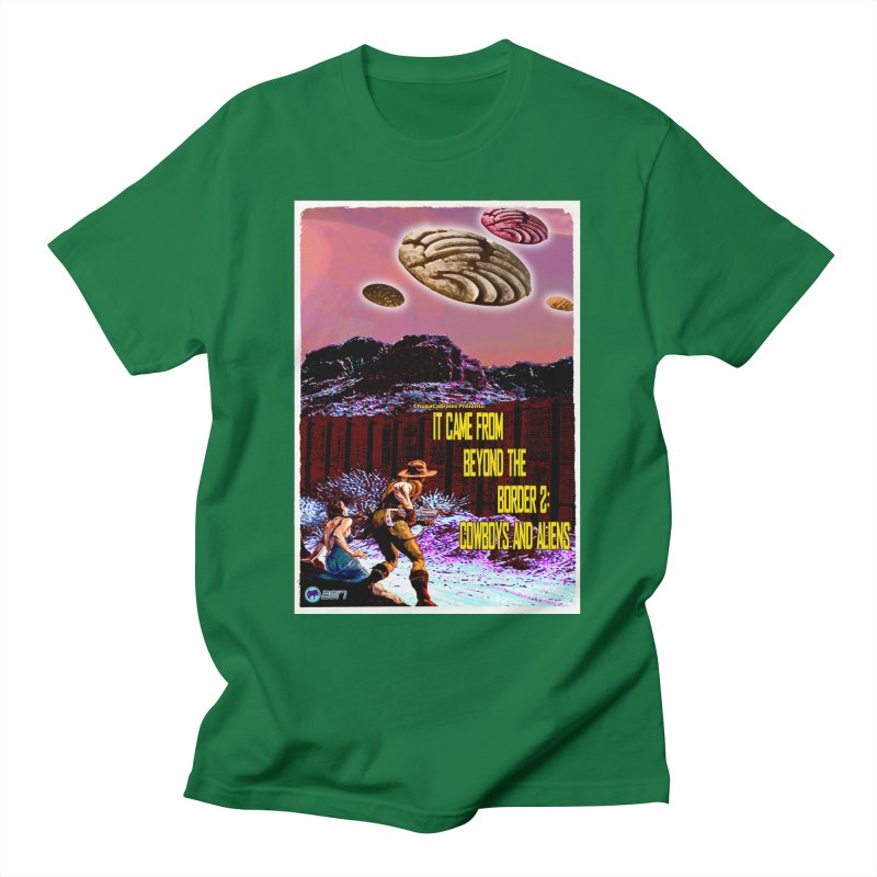 It Came from Beyond the Border2: Cowboys and Aliens by ChupaCabrales Men's T-Shirt by ChupaCabrales's Shop