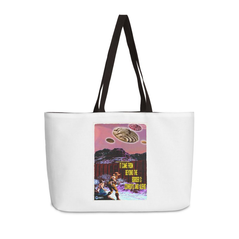 It Came from Beyond the Border2: Cowboys and Aliens by ChupaCabrales Accessories Bag by ChupaCabrales's Shop