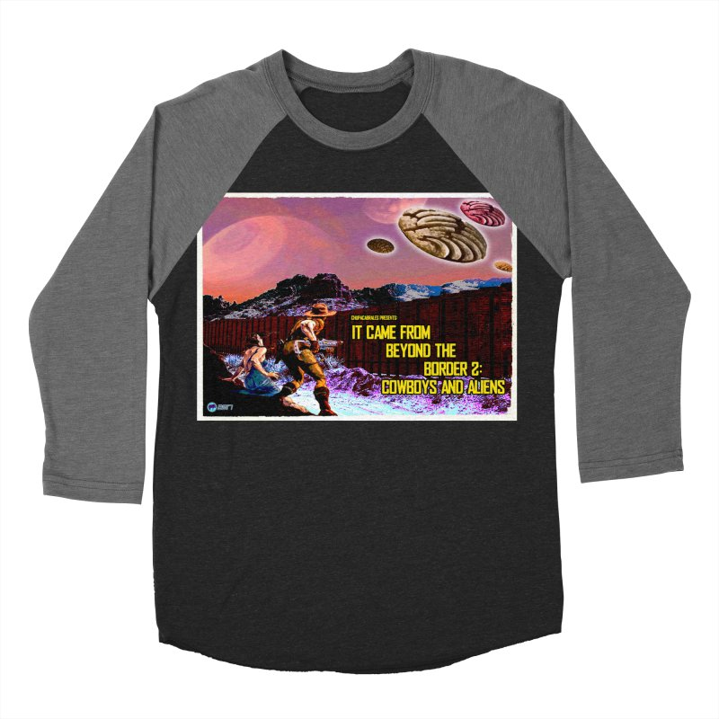 It Came from Beyond the Border2: Cowboys and Aliens by ChupaCabrales Women's Baseball Triblend T-Shirt by ChupaCabrales's Shop