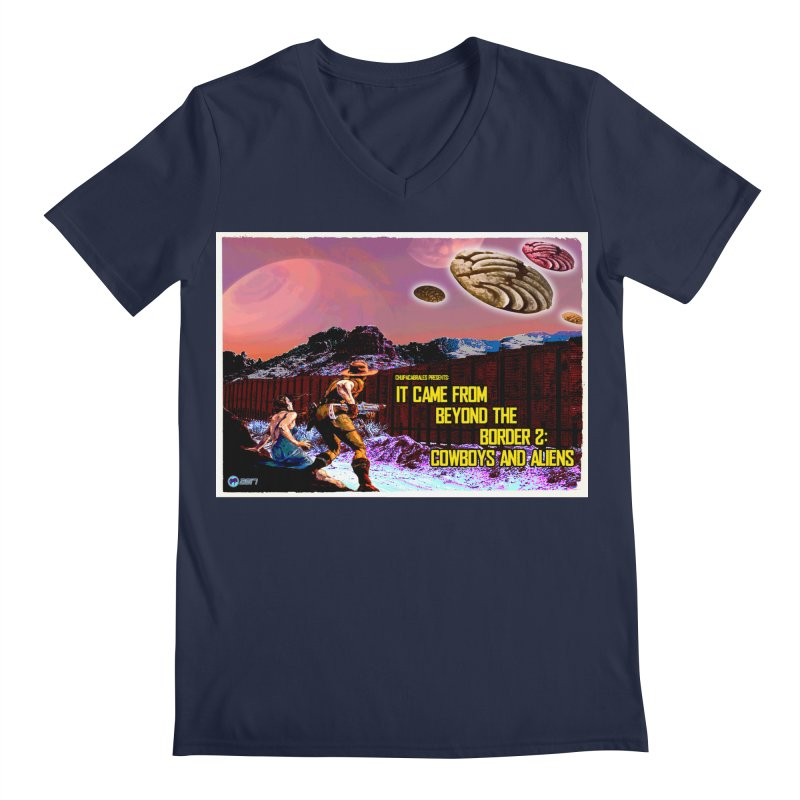 It Came from Beyond the Border2: Cowboys and Aliens by ChupaCabrales Men's Regular V-Neck by ChupaCabrales's Shop