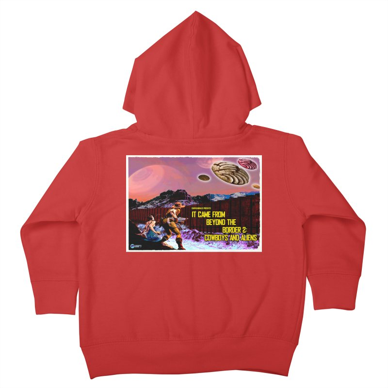 It Came from Beyond the Border2: Cowboys and Aliens by ChupaCabrales Kids Toddler Zip-Up Hoody by ChupaCabrales's Shop