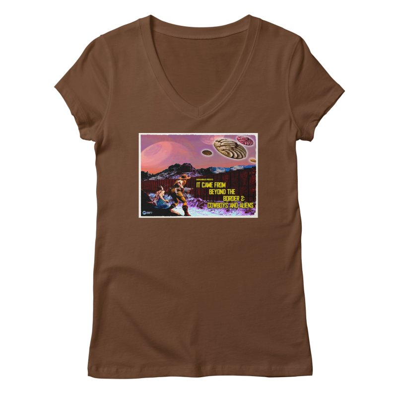 It Came from Beyond the Border2: Cowboys and Aliens by ChupaCabrales Women's V-Neck by ChupaCabrales's Shop