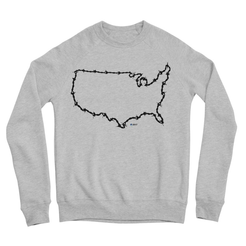 The New Colossus (Give me your tired, your poor...) v.2 by ChupaCabrales Men's Sponge Fleece Sweatshirt by ChupaCabrales's Shop