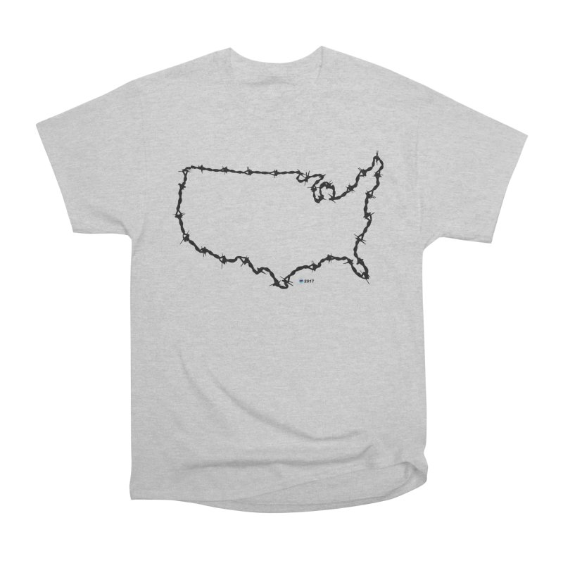 The New Colossus (Give me your tired, your poor...) v.2 by ChupaCabrales Men's Heavyweight T-Shirt by ChupaCabrales's Shop