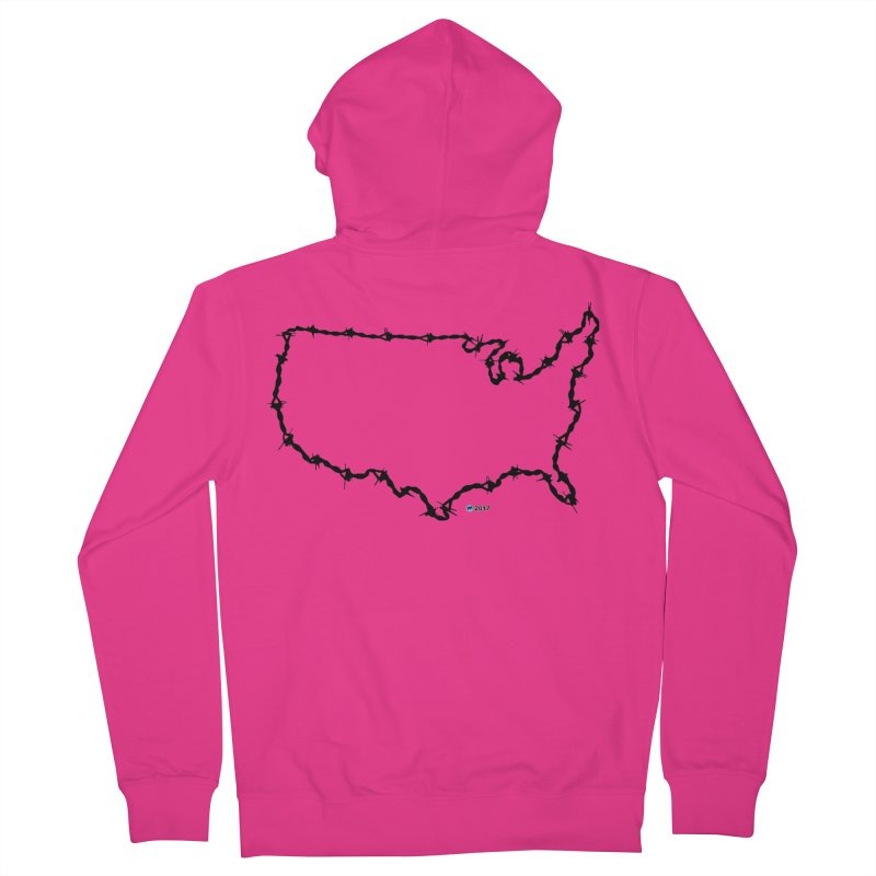 The New Colossus (Give me your tired, your poor...) v.2 by ChupaCabrales Men's French Terry Zip-Up Hoody by ChupaCabrales's Shop