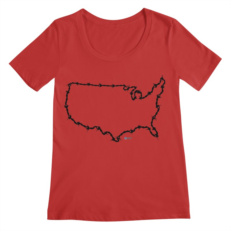 The New Colossus (Give me your tired, your poor...) v.2 by ChupaCabrales Women's Scoop Neck by ChupaCabrales's Shop
