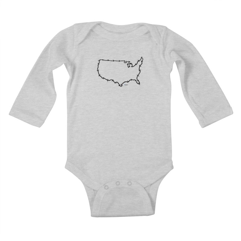 The New Colossus (Give me your tired, your poor...) v.2 by ChupaCabrales Kids Baby Longsleeve Bodysuit by ChupaCabrales's Shop
