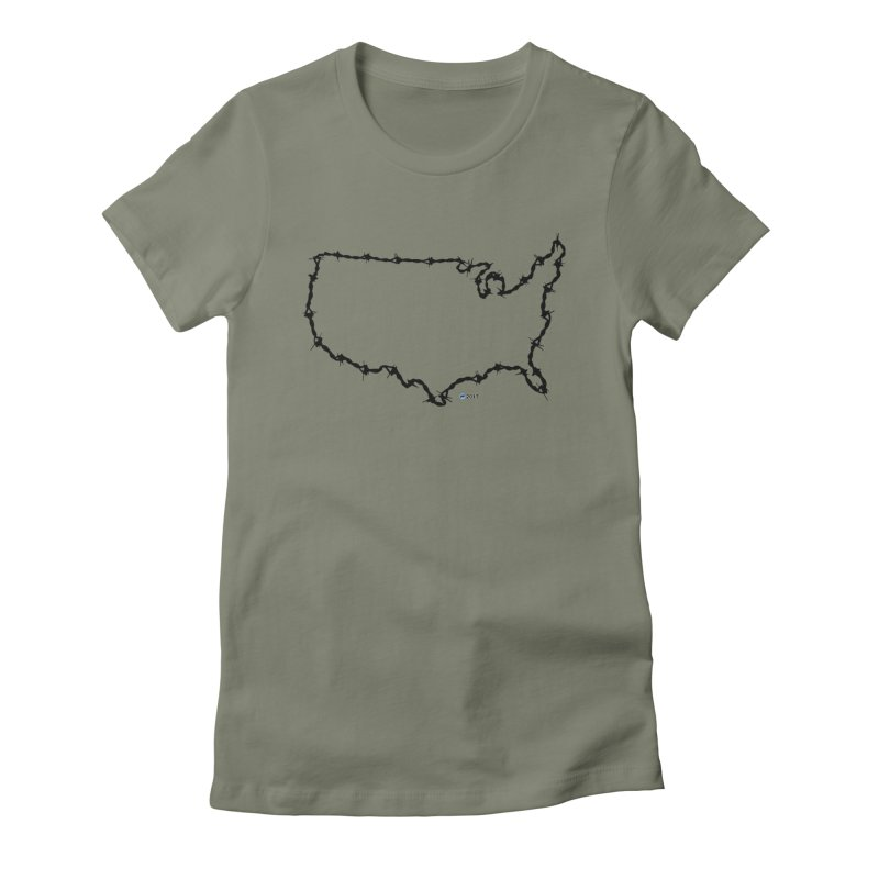 The New Colossus (Give me your tired, your poor...) v.2 by ChupaCabrales Women's T-Shirt by ChupaCabrales's Shop