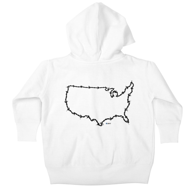The New Colossus (Give me your tired, your poor...) v.2 by ChupaCabrales Kids Baby Zip-Up Hoody by ChupaCabrales's Shop