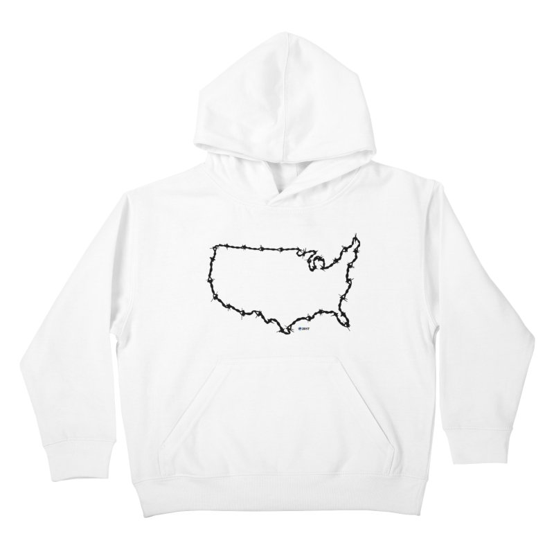 The New Colossus (Give me your tired, your poor...) v.2 by ChupaCabrales Kids Pullover Hoody by ChupaCabrales's Shop