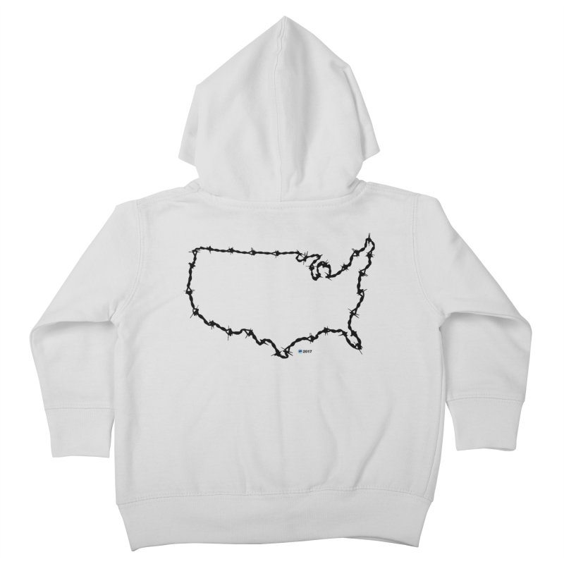 The New Colossus (Give me your tired, your poor...) v.2 by ChupaCabrales Kids Toddler Zip-Up Hoody by ChupaCabrales's Shop