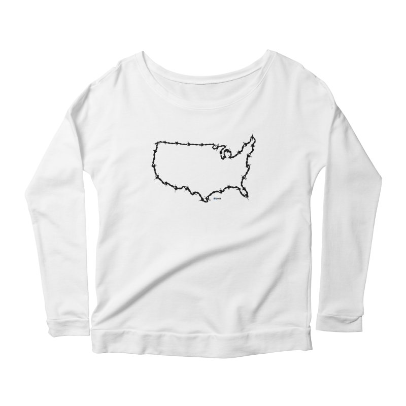 The New Colossus (Give me your tired, your poor...) v.2 by ChupaCabrales Women's Scoop Neck Longsleeve T-Shirt by ChupaCabrales's Shop