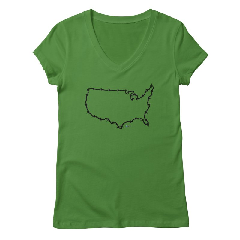 The New Colossus (Give me your tired, your poor...) v.2 by ChupaCabrales Women's Regular V-Neck by ChupaCabrales's Shop