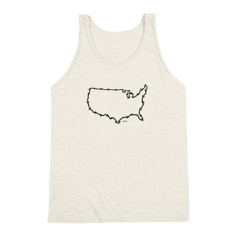 The New Colossus (Give me your tired, your poor...) v.2 by ChupaCabrales Men's Triblend Tank by ChupaCabrales's Shop
