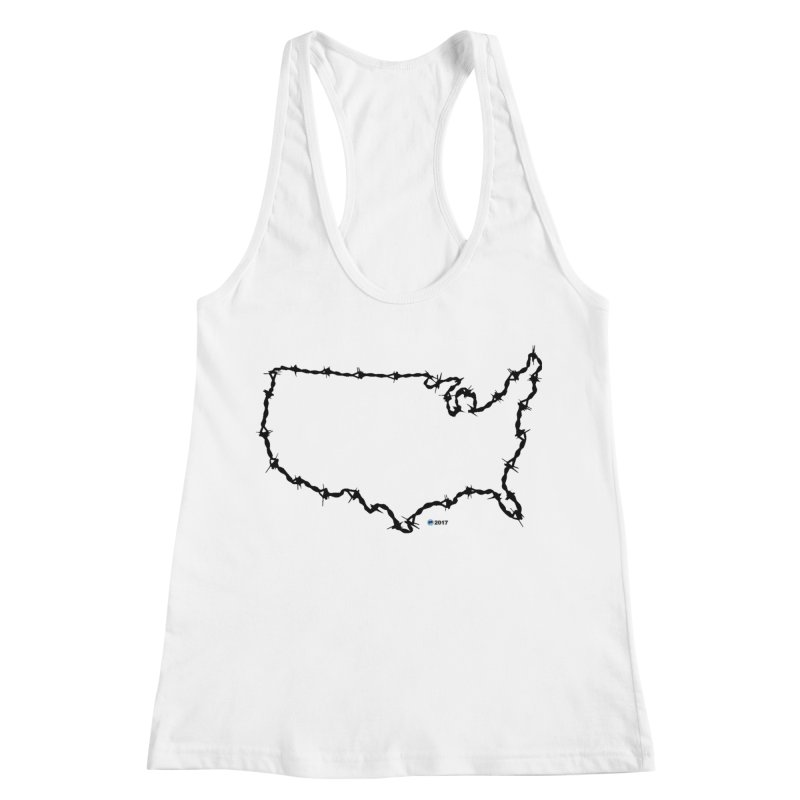 The New Colossus (Give me your tired, your poor...) v.2 by ChupaCabrales Women's Racerback Tank by ChupaCabrales's Shop