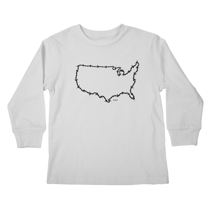The New Colossus (Give me your tired, your poor...) v.2 by ChupaCabrales Kids Longsleeve T-Shirt by ChupaCabrales's Shop