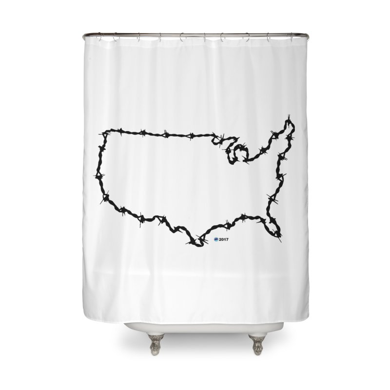 The New Colossus (Give me your tired, your poor...) v.2 by ChupaCabrales Home Shower Curtain by ChupaCabrales's Shop