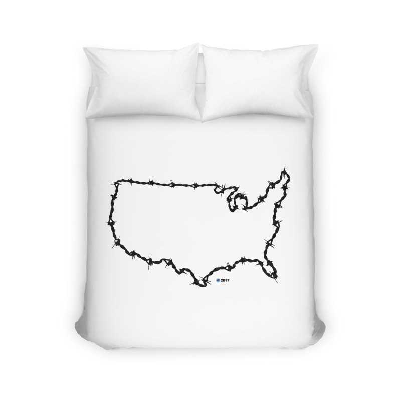 The New Colossus (Give me your tired, your poor...) v.2 by ChupaCabrales Home Duvet by ChupaCabrales's Shop
