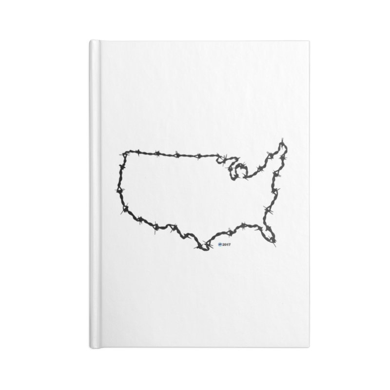 The New Colossus (Give me your tired, your poor...) v.2 by ChupaCabrales Accessories Blank Journal Notebook by ChupaCabrales's Shop