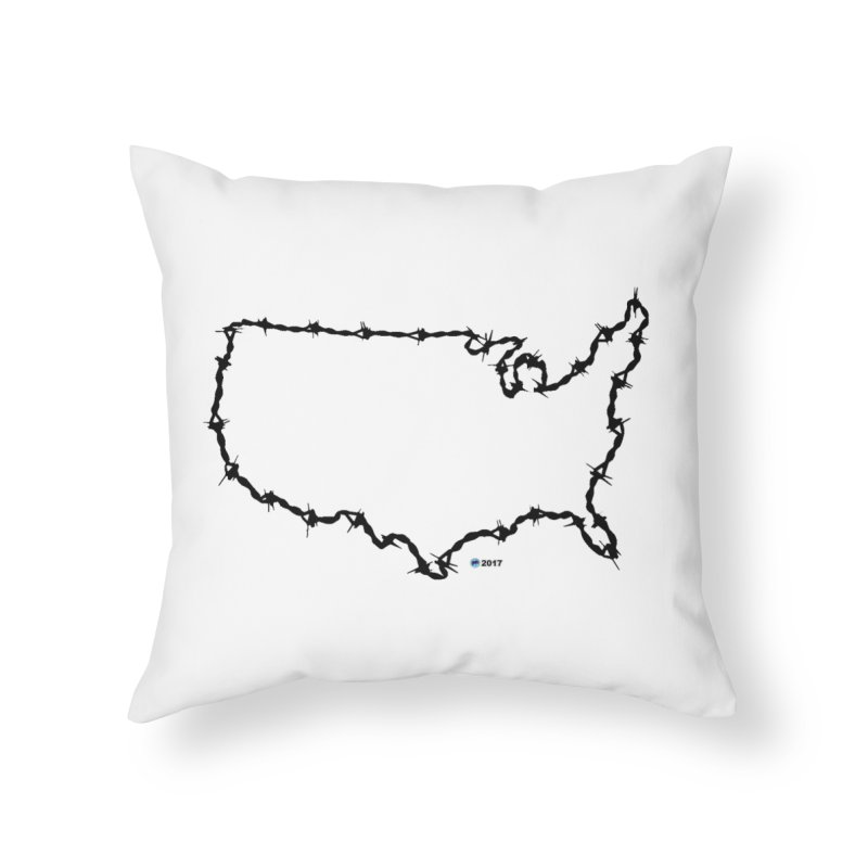 The New Colossus (Give me your tired, your poor...) v.2 by ChupaCabrales Home Throw Pillow by ChupaCabrales's Shop