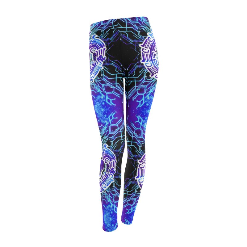 Techno Futura by ChupaCabrales Women's Leggings Bottoms by ChupaCabrales's Shop