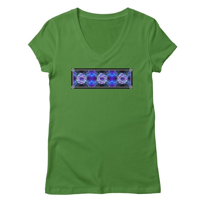 Techno Futura by ChupaCabrales Women's Regular V-Neck by ChupaCabrales's Shop