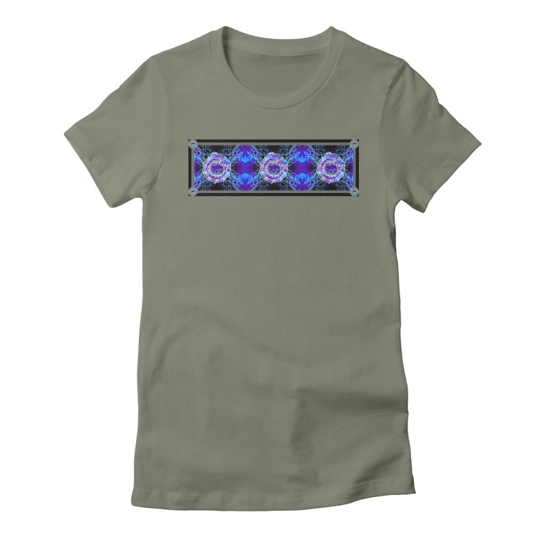 Techno Futura by ChupaCabrales Women's Fitted T-Shirt by ChupaCabrales's Shop