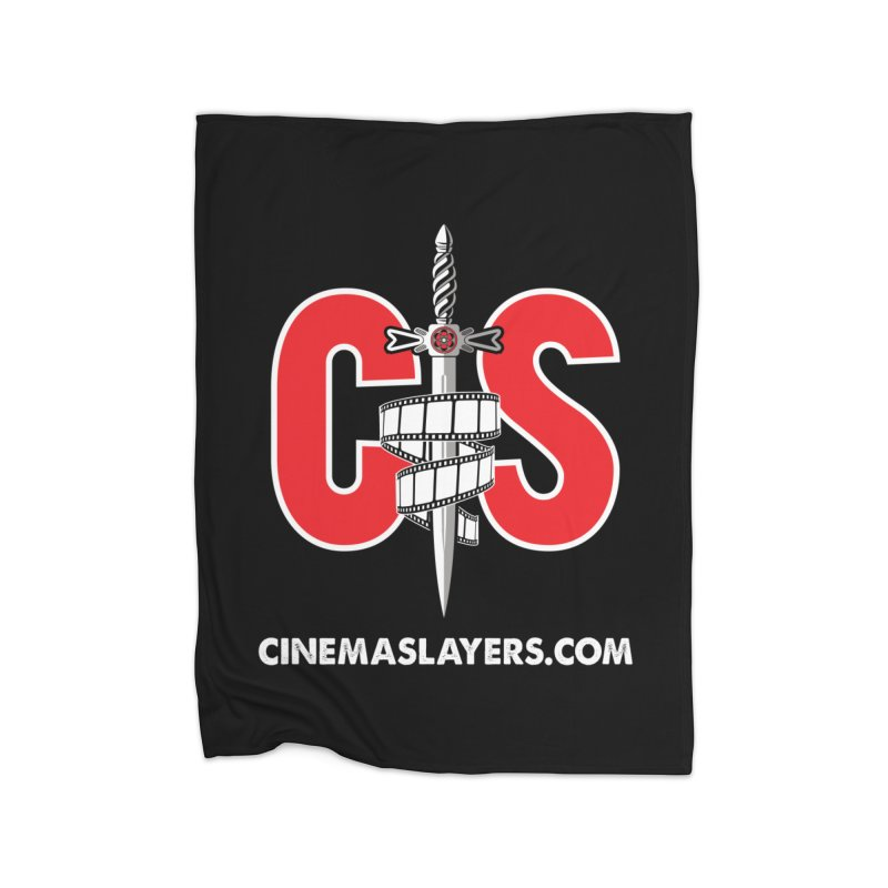 CS Logo Home Fleece Blanket Blanket by Cinema Slayers's Artist Shop