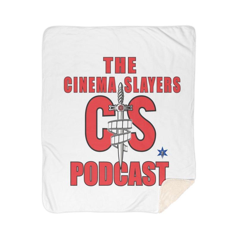 CS Logo Home Sherpa Blanket Blanket by Cinema Slayers's Artist Shop