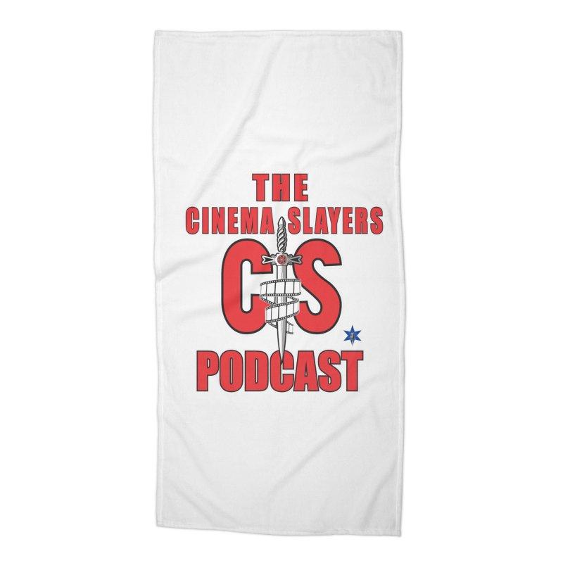 CS Logo Accessories Beach Towel by Cinema Slayers's Artist Shop