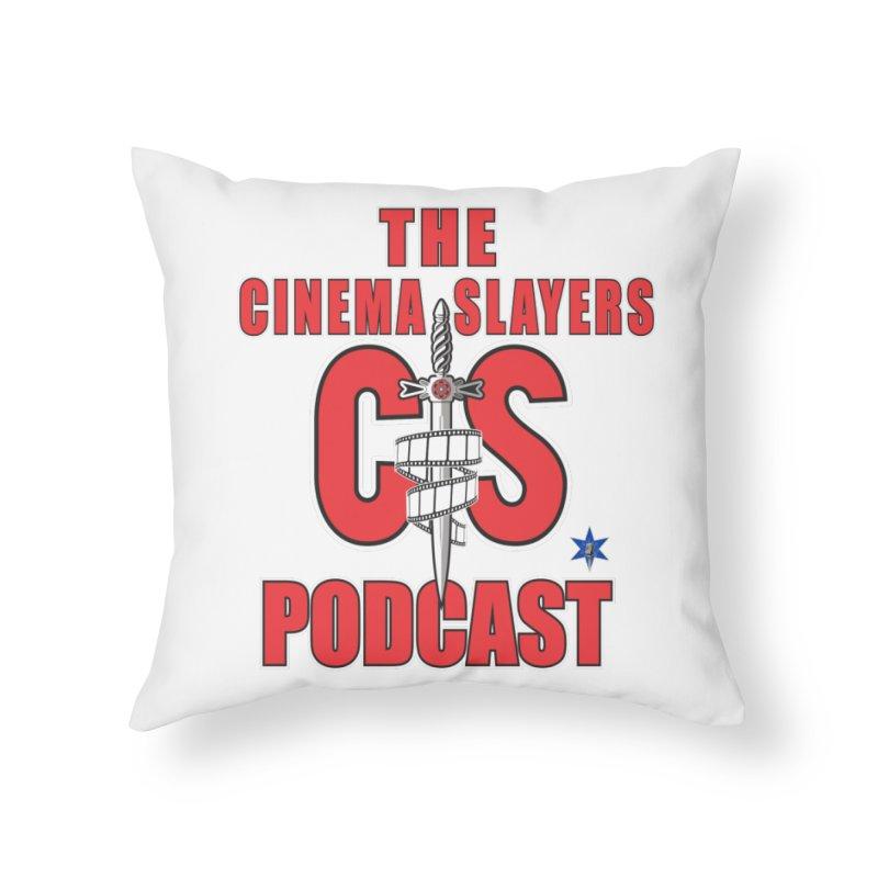 CS Logo Home Throw Pillow by Cinema Slayers's Artist Shop