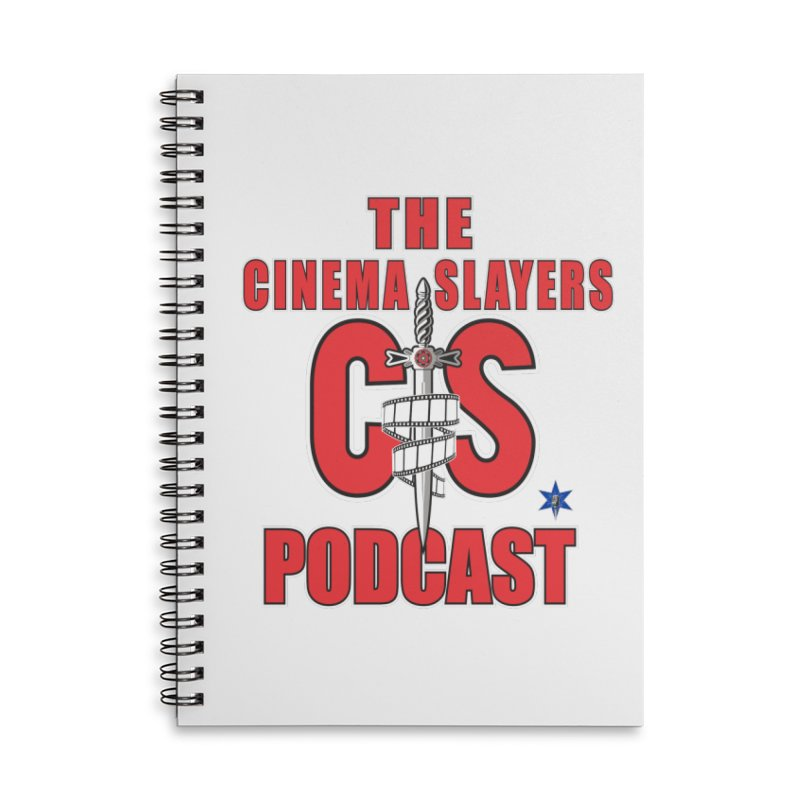 CS Logo Accessories Lined Spiral Notebook by Cinema Slayers's Artist Shop