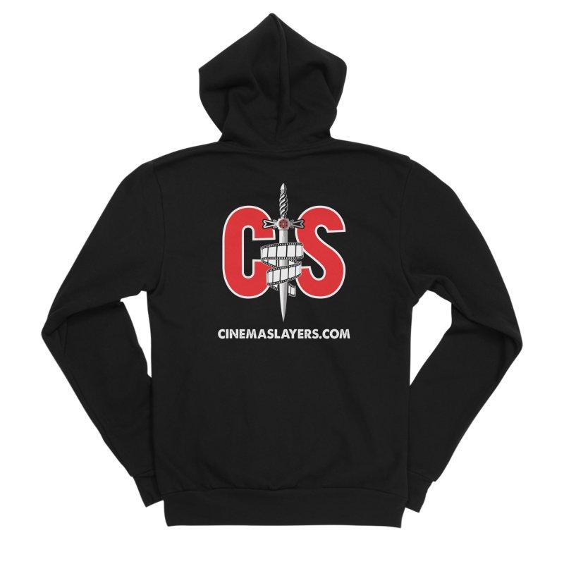 CS Logo Men's Sponge Fleece Zip-Up Hoody by Cinema Slayers's Artist Shop