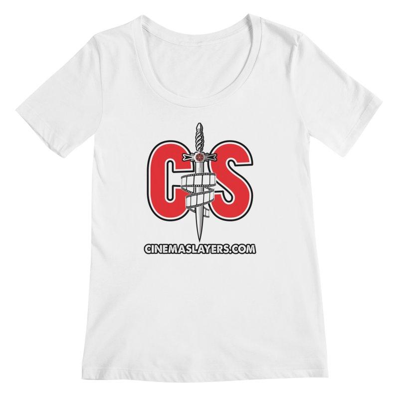 CS Logo Women's Regular Scoop Neck by CinemaSlayers's Artist Shop