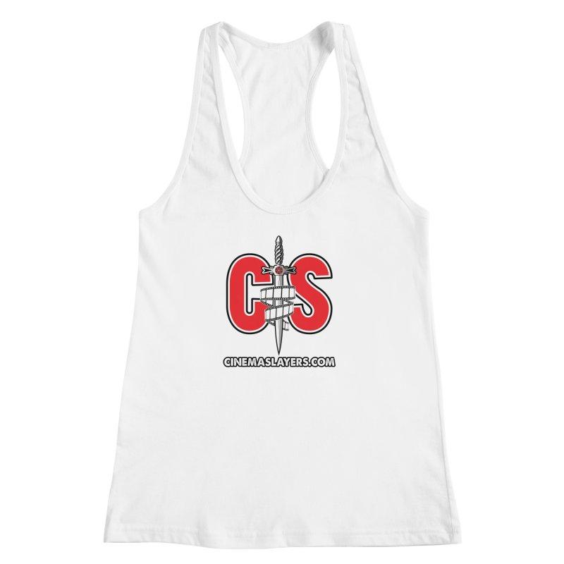 CS Logo Women's Racerback Tank by Cinema Slayers's Artist Shop