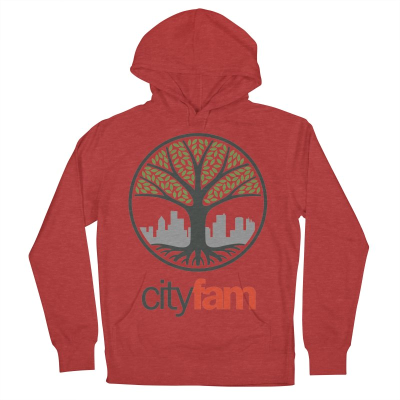 Cityfam Tree Women's French Terry Pullover Hoody by Cityfam's Artist Shop