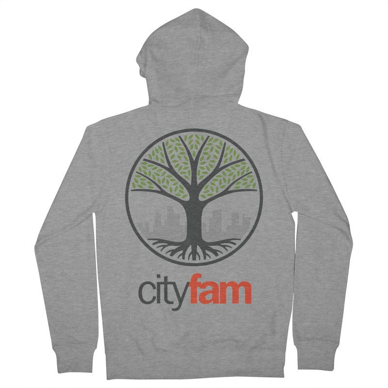 Cityfam Tree Men's French Terry Zip-Up Hoody by Cityfam's Artist Shop