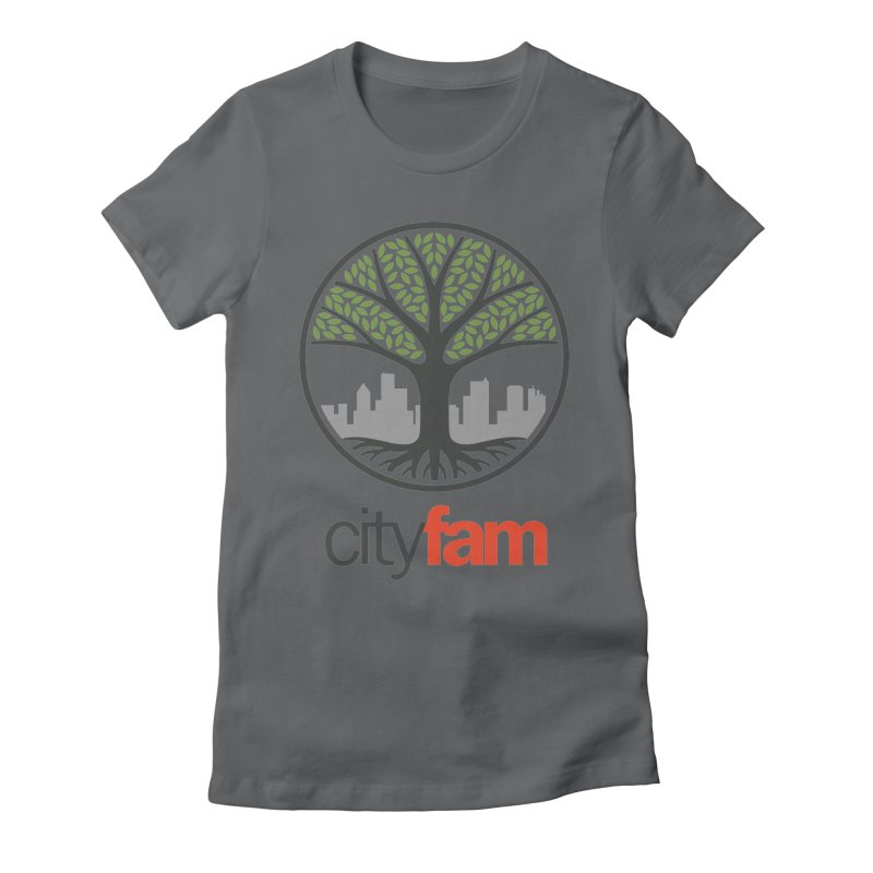 Cityfam Tree Women's Fitted T-Shirt by City Fam's Artist Shop